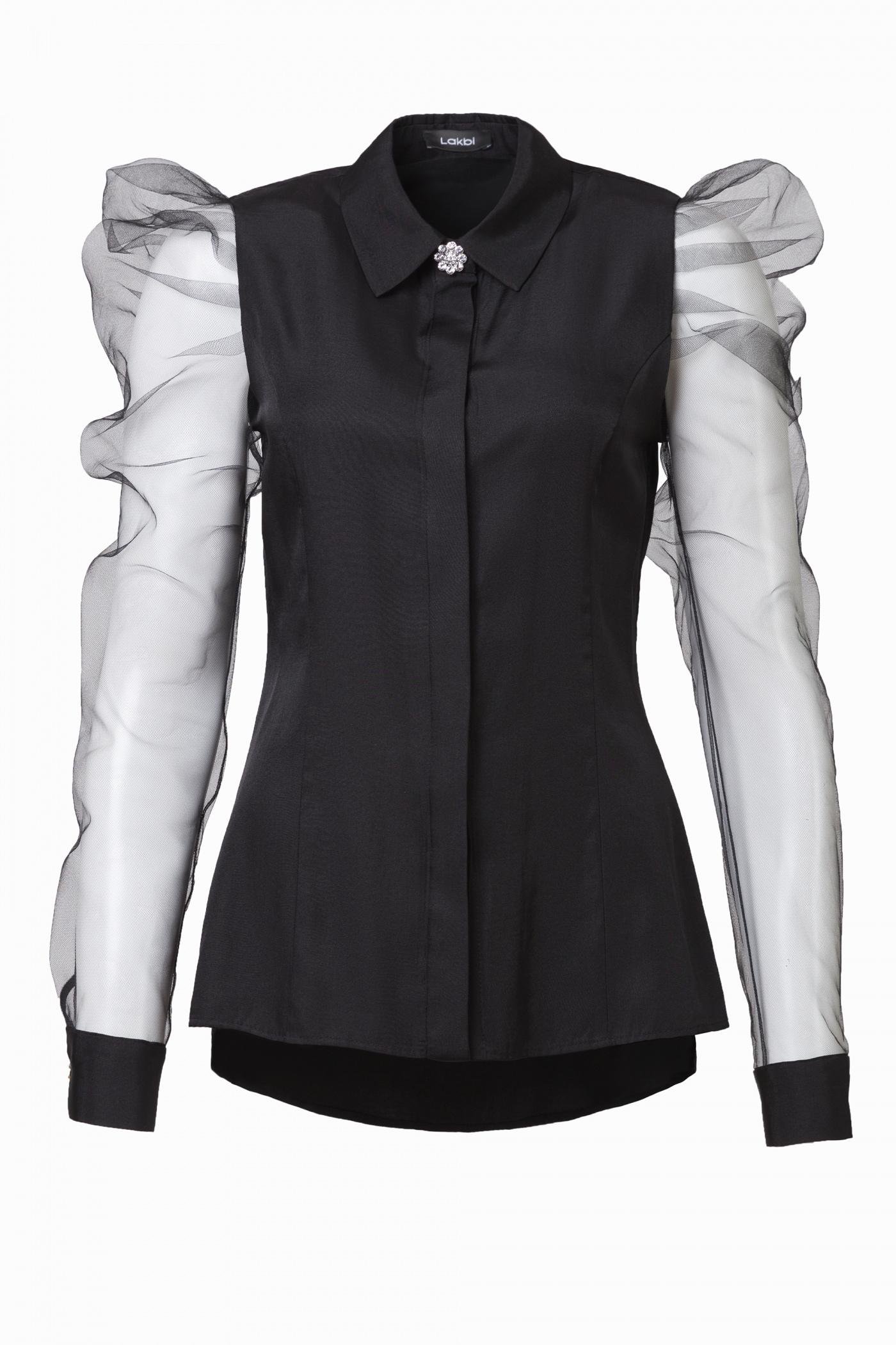 Блузка Лакби  51400 черная в наличии в Санкт-Петербурге